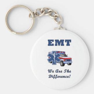 EMT somos la diferencia Llavero Redondo Tipo Pin