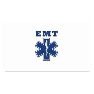 EMT Star of Life Double-Sided Standard Business Cards (Pack Of 100)
