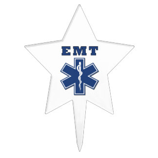 EMT Star Of Life Cake Topper