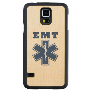 EMT Star Of Life Carved Maple Galaxy S5 Slim Case