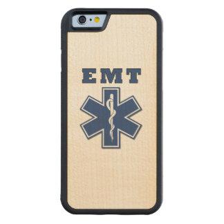 EMT Star Of Life Carved Maple iPhone 6 Bumper Case