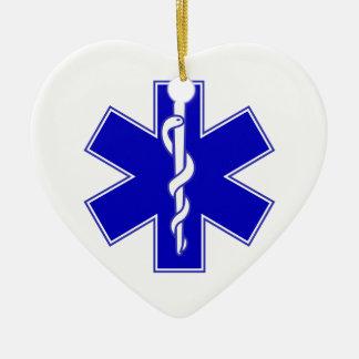 EMT Star of Life Ceramic Ornament