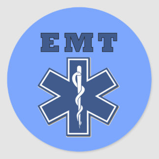 EMT Star of Life Classic Round Sticker