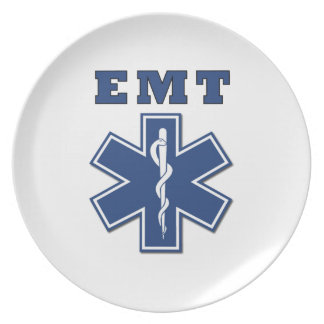 EMT Star of Life Dinner Plate
