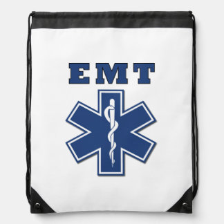EMT Star of Life Drawstring Bag