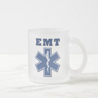 EMT Star of Life Frosted Glass Mug