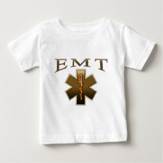 EMT - Star of Life in Brown Baby T-Shirt