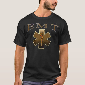 EMT - Star of Life in Brown T-Shirt