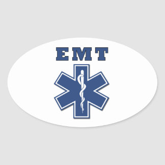 EMT Star of Life Oval Sticker