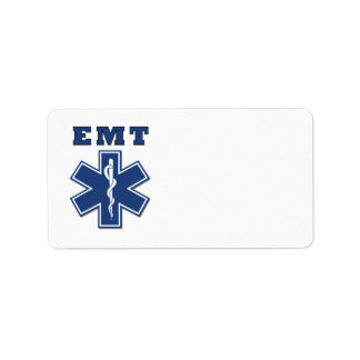 EMT Star of Life Personalized Address Labels