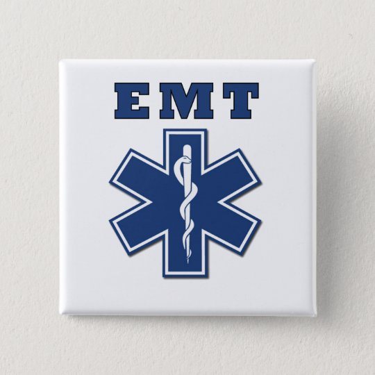 EMT Star of Life Pinback Button