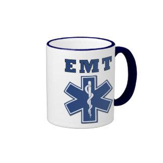 EMT Star of Life Ringer Coffee Mug