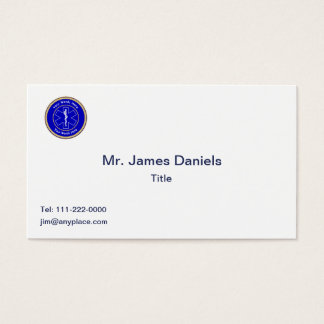 EMT Star of Life Rope Shield Universal Business Card