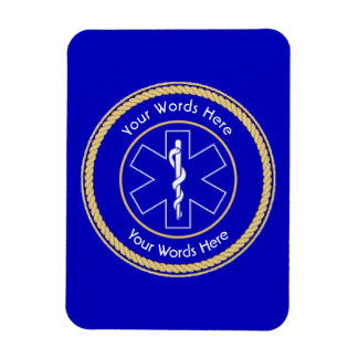 EMT Star of Life Rope Shield Universal Rectangular Photo Magnet
