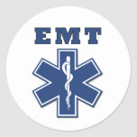 EMT Star of Life Round Stickers