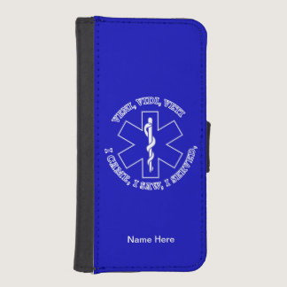 EMT Star Of Life Shield iPhone SE/5/5s Wallet Case