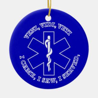 EMT Star Of Life Shield Ornament
