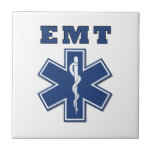 EMT Star of Life Small Square Tile