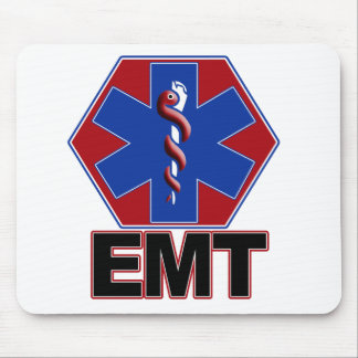 EMT STAR OF LIFE SYMBOL - EMERGENCY MEDICAL TECH MOUSE PAD