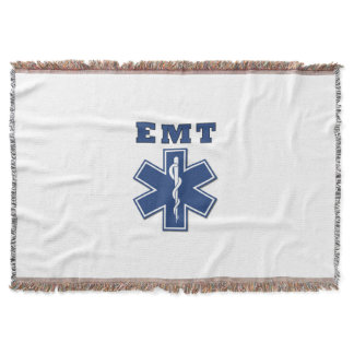 EMT Star of Life Throw Blanket