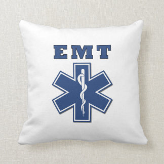 EMT Star of Life Throw Pillow