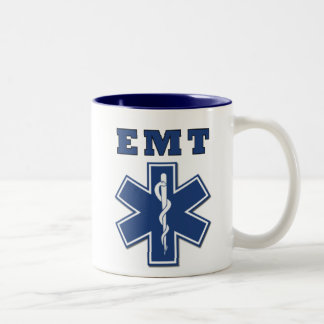 EMT Star of Life Two-Tone Coffee Mug