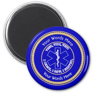 EMT Star of Life VVV Rope Shield Universal 2 Inch Round Magnet