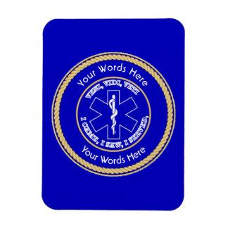 EMT Star of Life VVV Rope Shield Universal Rectangular Photo Magnet