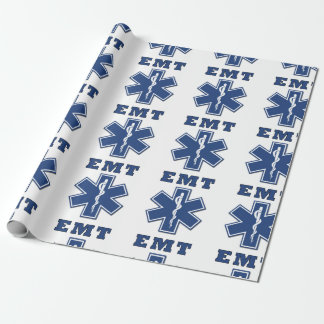 EMT Star of Life Wrapping Paper