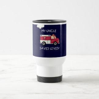 EMT Uncle Saves Lives Tshirts and Gifts Travel Mug