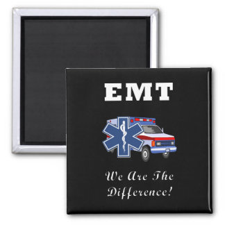 EMT We Are The Difference 2 Inch Square Magnet