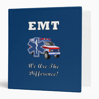 EMT We Are The Difference 3 Ring Binder