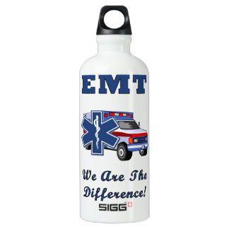 EMT We Are The Difference Aluminum Water Bottle