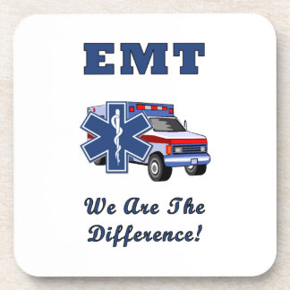 EMT We Are The Difference Beverage Coaster