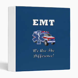 EMT We Are The Difference Binder