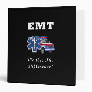 EMT We Are The Difference 3 Ring Binders
