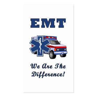 EMT We Are The Difference Business Card