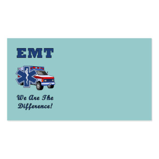 EMT We Are The Difference Double-Sided Standard Business Cards (Pack Of 100)