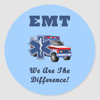 EMT We Are The Difference Classic Round Sticker