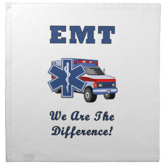 EMT We Are The Difference Cloth Napkin