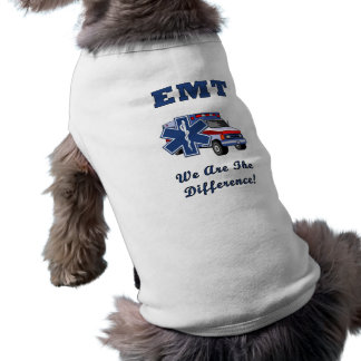 EMT We Are The Difference Dog Tee Shirt