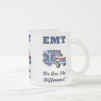 EMT We Are The Difference Frosted Glass Coffee Mug