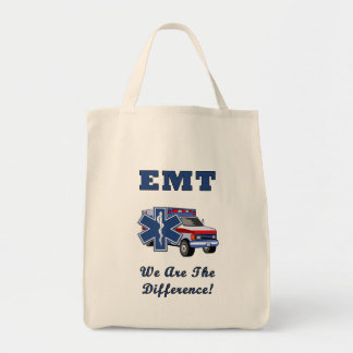 EMT We Are The Difference Grocery Tote Bag