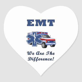 EMT We Are The Difference Heart Sticker