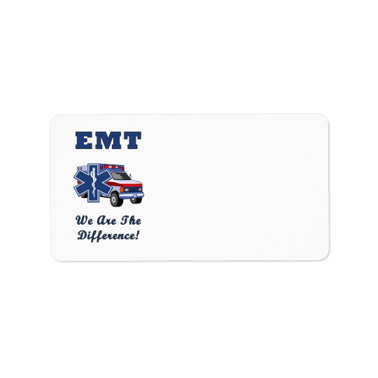 EMT We Are The Difference Label