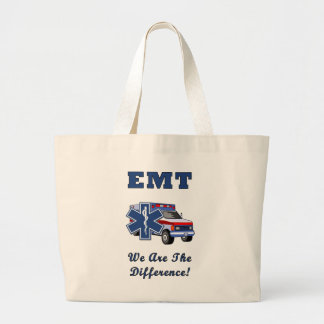 EMT We Are The Difference Large Tote Bag