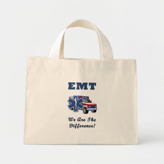 EMT We Are The Difference Mini Tote Bag