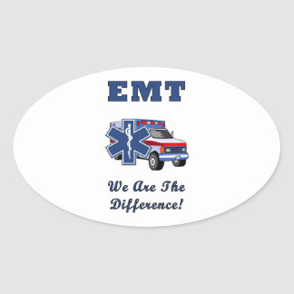 EMT We Are The Difference Oval Sticker