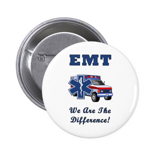 EMT We Are The Difference Pinback Buttons