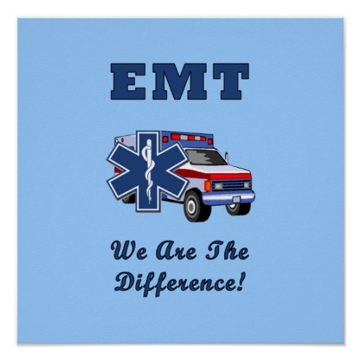 EMT We Are The Difference Poster
